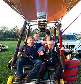 Pilota disabile vola in mongolfiera alla Festa dell'Aria