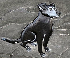 Brunello, cane mascotte di Vellano:<br>inaugurata la statua a lui   dedicata