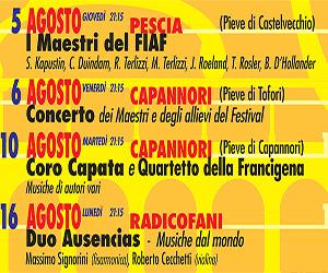 Altopascio: in agosto altri 2 appuntamenti<br> per il Francigena International Arts Festival